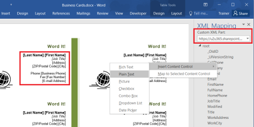 Map SharePoint fields